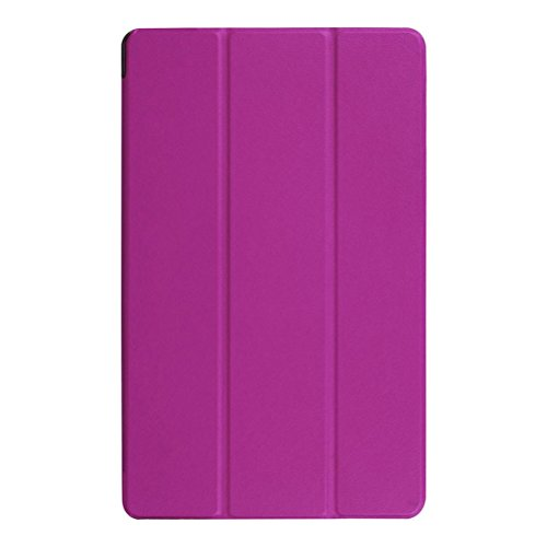 Folding Stand Leather Case For Dragon Touch X10 10.6 Inch,Cover Holder (Purple)