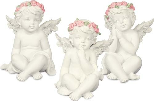 Angelstar 19272 Charming Trio Cherub Angel Figurine, 3-Inch, Set of 3