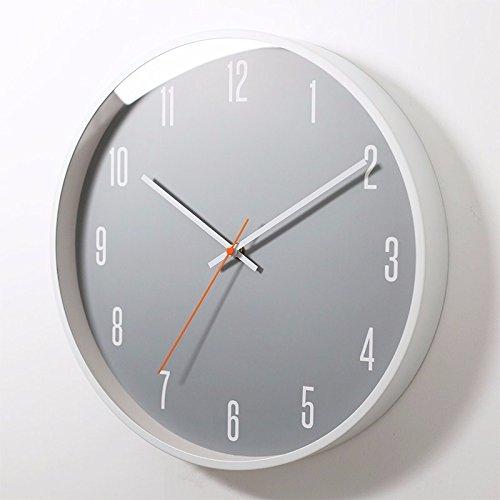 オフィスのための寝室のためのリビングルームのための静かな壁時計、黄色 B07DPRW3KG