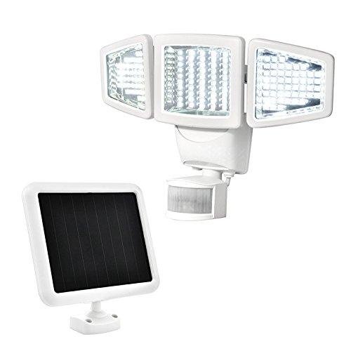 Sunforce 82153 150-LED Triple Head Solar Motion Light, 1000 Lumen Output, 30ft. (9.1m) Detection Distance, 180...