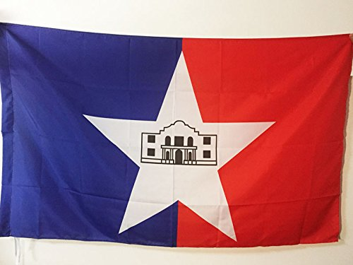 SAN ANTONIO FLAG 3' x 5' for a pole - SAN ANTONIO CITY - TEXAS FLAGS 90 x 150 cm - BANNER 3x5 ft with hole - AZ FLAG (San Antonio Outdoor Furniture)