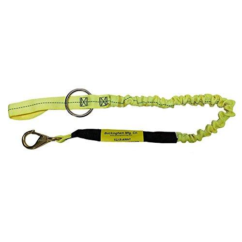 Buckingham 25Y13-48A CHAINSAW LANYARD, tool lanyard tether, Nylon/Steel Ring, 48'', Yellow