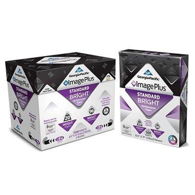 "Georgia Pacific Image Plus, Premium Multipurpose Paper, 20 lb., 96 Brightness, 8.5"" x 11"", 5 Reams - 2,500 Sheets (pack of 6)"