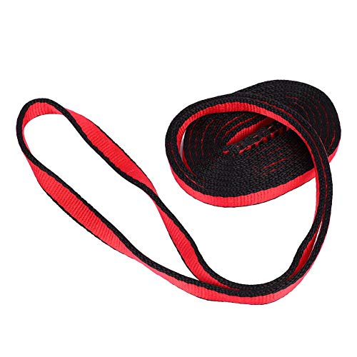 Rescue Rope Runner - Alomejor Mountaineering Climbing Flat Rope 23KN Nylon Rope Runner Webbing Sling Flat Strap Belt for Mountaineering Rock Climbing Caving Rappelling Rescue Engineering(150cm-Red)