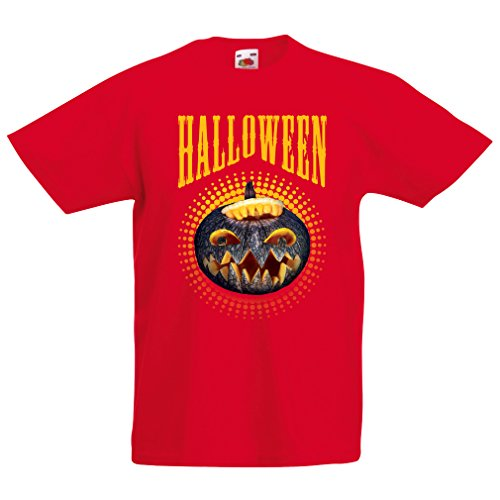 lepni.me Kids T-Shirt Halloween Pumpkin - Clever Party Costume Ideas 2017 (1-2 Years Red Multi -