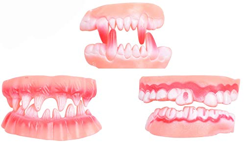 Slayco Vampire Fake Teeth Ugly Halloween Party Prank Props 3 Sets by Slayco