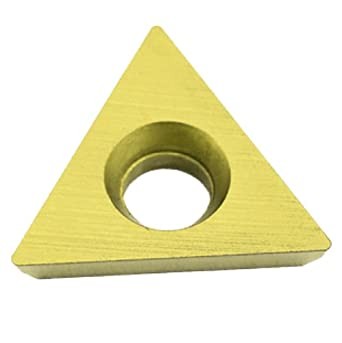 """Dorian Tool TDEX Multilayer Coated Carbide Dovetail Triangle Milling Indexable Insert, 0.0312"""" Nose Radius, General Purpose Chip Breaker for Ferrous Metals, 1/2"""" Insert, 3/16"""" Thick (Pack of 10)"""