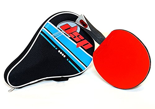 DSP ACE 860 Table Tennis Paddle - Competition ITTF certified Double Power Racket Rubbers -Ideal for Advanced or Intermediate Ping Pong Players looking for Speed, Spin and Control Includes Racquet Bag