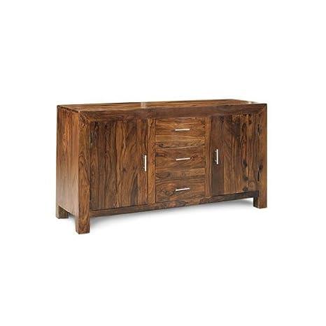 Cubo grande credenza Sheesham 100% legno indiano mobili soggiorno ...