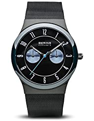 BERING Time 32139-227 Ceramic Collection Watch with Mesh Band and scratch resistant sapphire crystal. Designed...