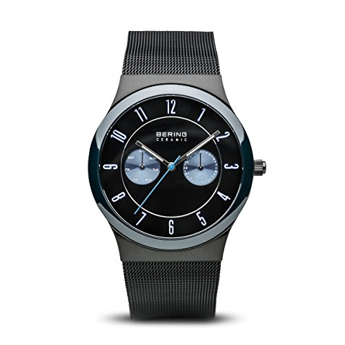 Sapphire Ceramic - BERING Time 32139-227 Ceramic Collection Watch with Mesh Band and Scratch Resistant Sapphire Crystal. Designed in Denmark.