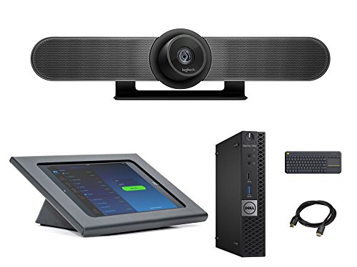 Zoom Rooms Huddle Kit Bundle With Logitech Meetup  Dell Optiplex  And Accessories