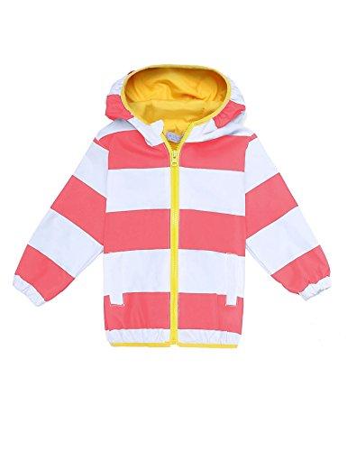 706e6776a Arshiner Girls Kids Waterproof Rain Coat Jacket Hoodie Outwear