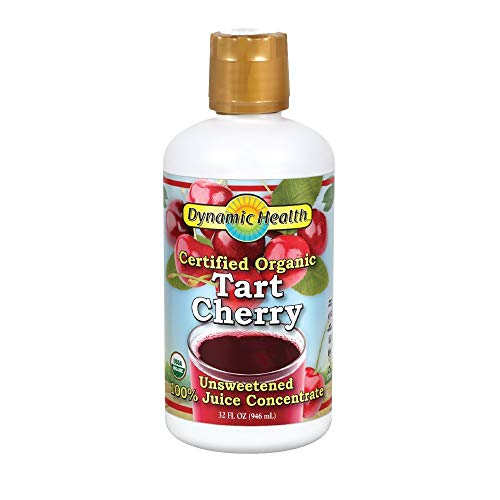 Dynamic Health 100 Percent Pure Organic Tart Cherry Juice Concentrate 32oz / 946ml by Dynamic Health ()