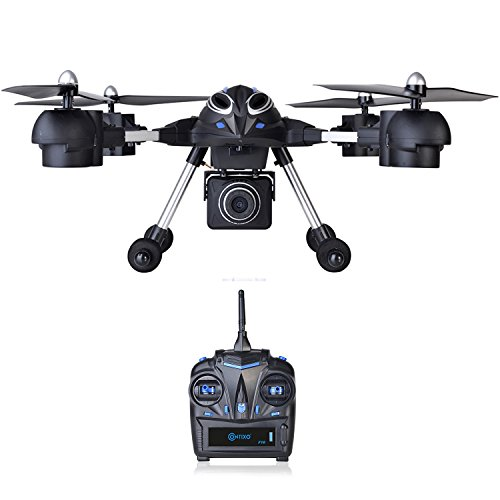 Contixo F10+ Quadcopter RC Drone 720P HD Video Camera Altitude Hold Headless Mode 4 Channel 2.4GHz 6 Axis Gyro 360° Stunts RTH GoPro HERO Action Camera Compatible