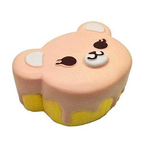 HooMore Jumbo Squishies Cute Bear Head Kawaii Cream Scented Super Slow Rising Foam Squishies Decompression Squeeze Simulation Toys 1 Piece Random