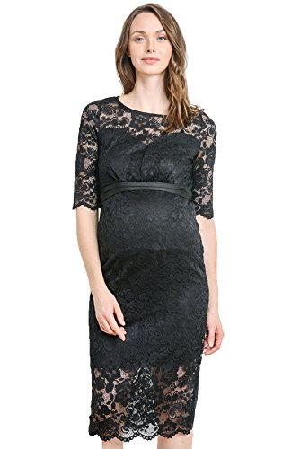 Hello MIZ Women's Baby Shower Floral Lace Maternity
