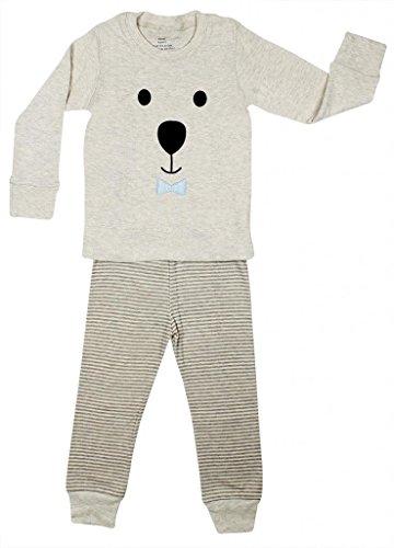 "Price comparison product image Elowel ""Teddy Bear Face"" 2 Piece Pajama Set 100% Cotton - 3 Toddler"