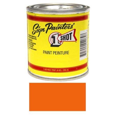 1/2 Pint 1 Shot Orange Paint Lettering Enamel Pinstriping & Graphic Art