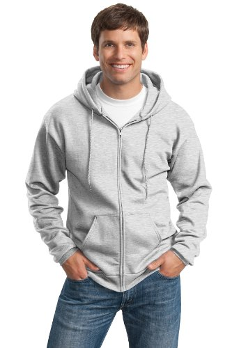 PORT & COMPANY Men's Ultimate Full Zip Hooded Sweatshirt ...