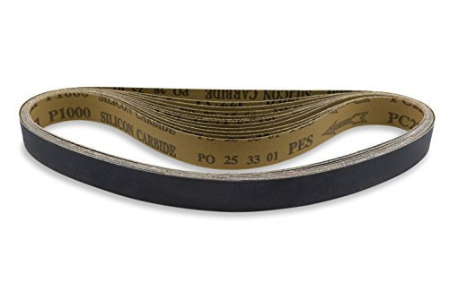 1 X 30 Inch 120 Grit Silicon Carbide Sanding Belts, 12 Pack