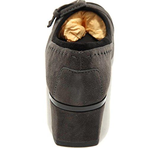 Tod's PT Gomma Fibbia T Women Shoes 50 Decollete Nero 1718G Nero Donna Grigio Grigio Scarpa 818rn