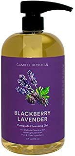 product image for Camille Beckman Complete Hand & Body Cleansing Gel, Blackberry Lavender, 16 Ounce