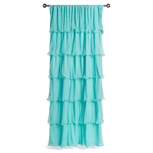 1 Piece Girls Nerina Ruffle Aqua