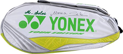 Monica Seles Autographed Yonex White, Green, and Yellow Tennis Bag - Fanatics Authentic Certified - Tennis Autographed Miscellaneous Items