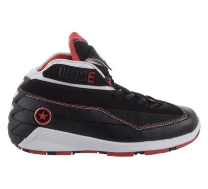 Converse Big Kids Wade 3 ( sz. 05.5, Black/Red/White )