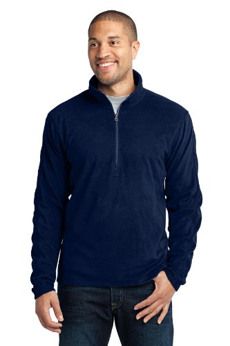 1/2 Zip Navy Fleece - Port Authority Men's Microfleece 1/2 Zip Pullover M True Navy