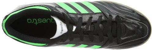 adidas Performance 11Questra IN - Zapatos de fútbol de material sintético hombre Negro - negro/verde