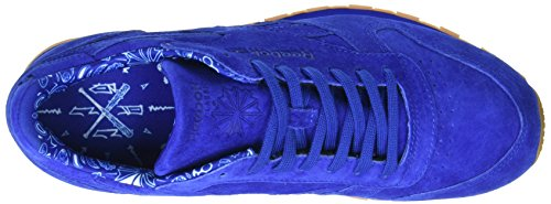 Reebok Cl Leather Tdc, Sneakers para Hombre Azul (Collegiate Royal/white)