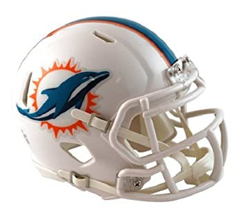 0495f4072c3 OFFICIAL NFL MIAMI DOLPHINS MINI SPEED AMERICAN FOOTBALL HELMET BY RIDDELL   Amazon.co.uk  Sports   Outdoors