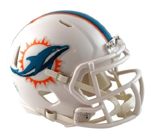 Riddell Miami Dolphins NFL Replica Speed Mini Football Helmet