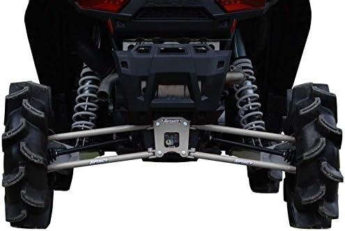 SuperATV Polaris RZR 1000 / 1000 4 / Turbo Rear Suspension Links (2014+) - 16mm - White Aluminum (Silver)