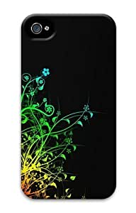 Abstract Colorful Plants PC Case for iphone 4S/4