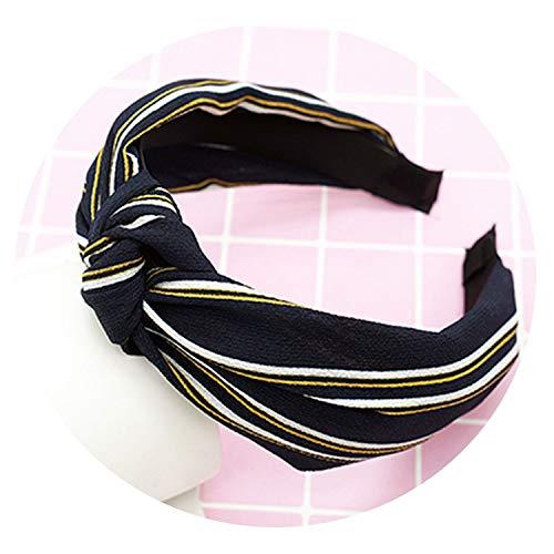 Girls Elastic Hair Bands Top Knot Turban Flower Headbands for Women -