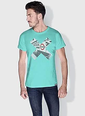 Creo London Underground X City Love T-Shirts For Men - L, Green