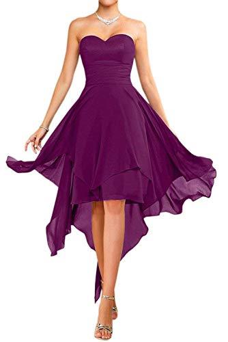 Heimkehr Farbe Viel Rot Brautjungfernkleider Kurz Partykleider Cocktailkleider Chiffon Einfach Tanzenkleider Mia Violett La WnzgwxqUXF