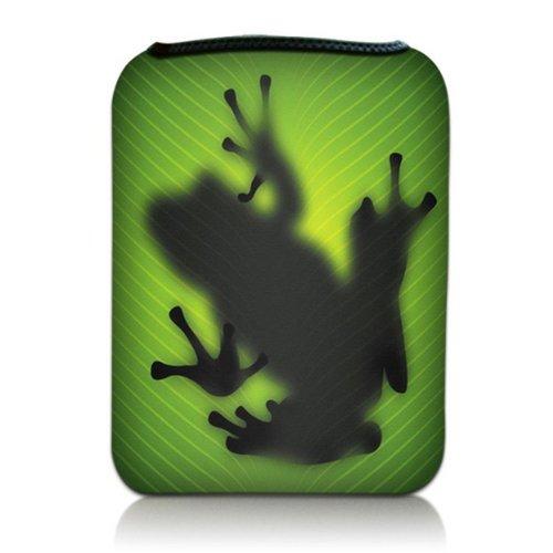 Luxburg® Design Tasche Hülle Sleeve Etui für eBook Reader und Tablet PC bis 7 Zoll, Motiv: Frosch Silhouette