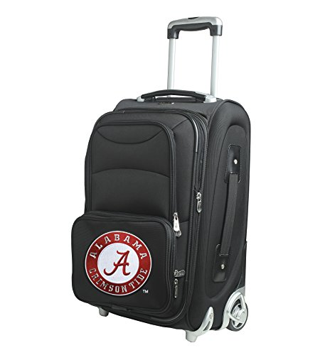 NCAA Alabama Crimson Tide In-Line Skate Wheel Carry-On Luggage, 21-Inch, Black by Denco