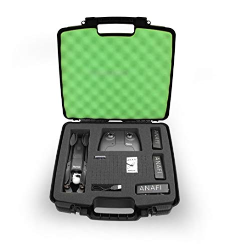 CASEMATIX Quadcopter Case for Parrot Anafi 4k HDR Drone, Skycontroller 3, Parrot Anafi 4k Drone Battery, Drone Propellers and Charge Cable - Made in The USA
