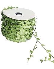 joyliveCY Hoja Artificial Verde Vid Simulación Flor follaje Verde Hojas Decorativo