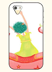 OOFIT Phone Case Design with The Back of the Girl for Apple iPhone 5 5s 5g