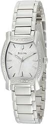 Bulova Women's 96R135 Diamond Case White Dial Bracelet Watch