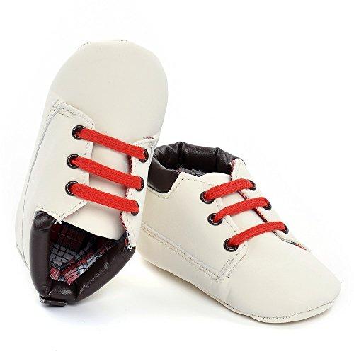Estamico infantil unisex niños lienzo zapatillas zapatos de bebé 3tamaños blanco roto blanco Talla:12-18 meses Blanco