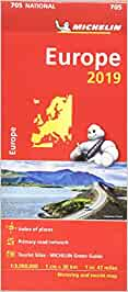 Europe 2019 - Michelin National Map 705 Michelin National