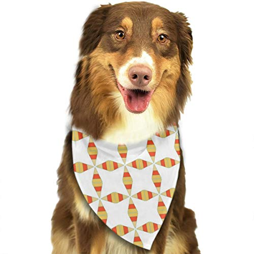 Pet Scarf Dog Bandana Bibs Triangle Head Scarfs Candy Corn Pattern Accessories for Cats Baby Puppy