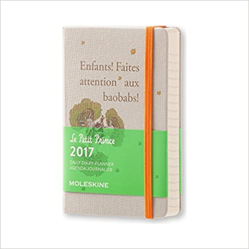 Moleskine 2017 Le Petit Prince Limited Edition Daily Planner, 12M, Pocket, Light Grey, Hard Cover (3.5 x 5.5) B018QS167I